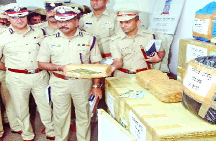 130 किलो गांजा जब्त, 5 गिरफ्तार