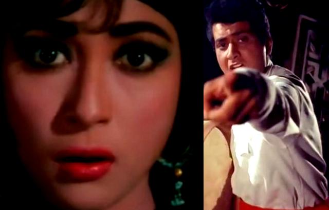 Manoj Kumar and Mala Sinha