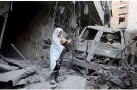 विद्रोहियों के कब्जे वाले क्षेत्र में सीरियाई बमबारी से 20 बच्चे समेत 100 नागरिकों की मौत