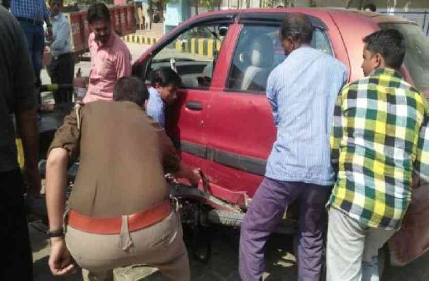 डीजल भरवाने के बाद अचानक स्टार्ट हुई गाड़ी, पम्प पर मची भगदड़