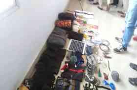 #video सीआरपीएफ और पुलिस द्वारा सयुंक्त कार्यवाही करके जप्त किया गया माओवादियों का सामान