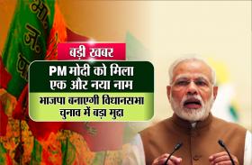 बड़ी खबर : पीएम मोदी को मिला एक और नया नाम,विधानसभा चुनाव में भाजपा बनाएगी बड़ा मुद्दा