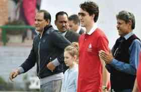 तस्वीरों में देखें भारत आए कनाडा के PM जस्टिन ट्रूडो का खेल प्रेम