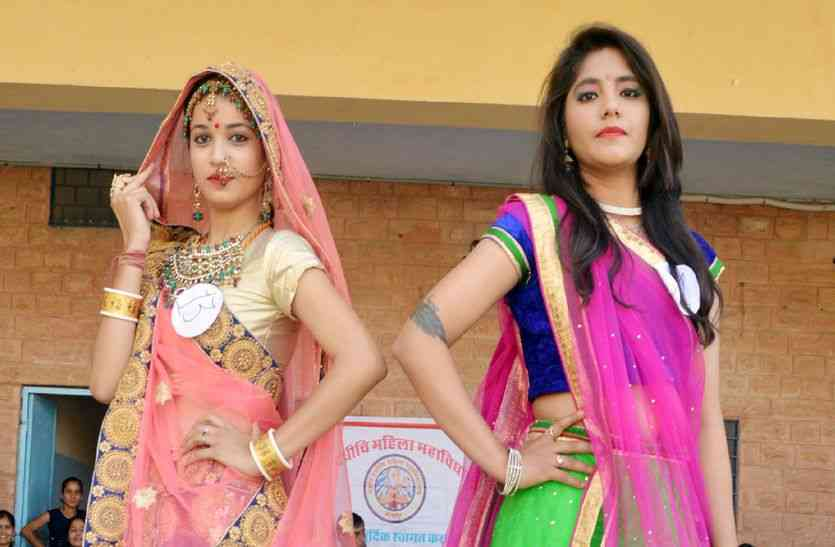 latest news,party,students,college,girls,Teachers,School,Womens,News in Hindi,jodhpur news,latest news in hindi,farewell party,farewell,gorgeous,traditional look,pretty,wrap around in traditional look,