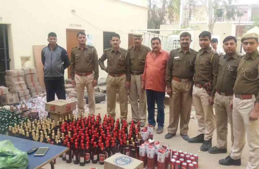 हिंगोटा से चोरी हुई शराब प्रतापगढ़ थाने में जब्त