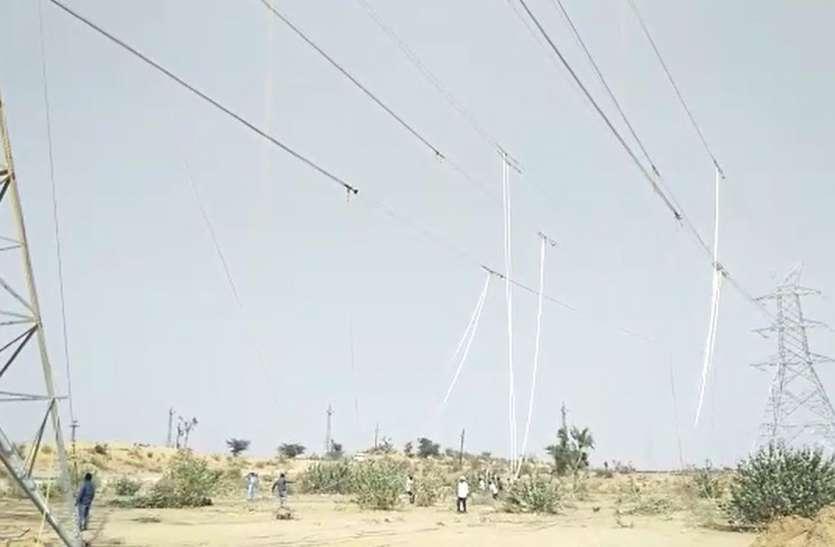 बिजली लाइनों का जाल स्टेडियम निर्माण में बना बाधक