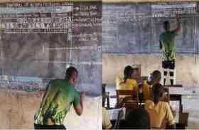 pics : बिना कम्प्यूटर के कम्प्यूटर शिक्षा देने वाले इस शिक्षक को माइक्रोसॉफ्ट ने किया सलाम, देखें तस्वीरें