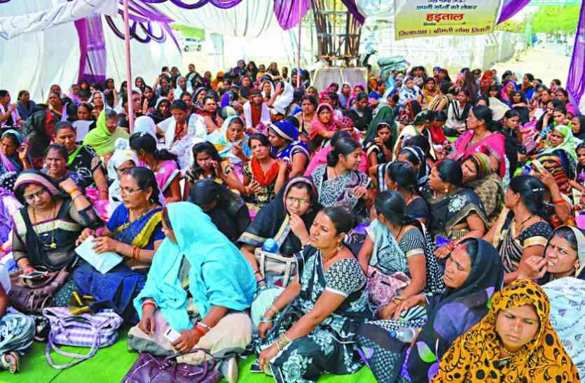 21 दिन से नहीं बंटा केंद्रों में पोषण आहार,  गर्भवती महिलाएं परेशान, सेवा समाप्ति की लटकी तलवार