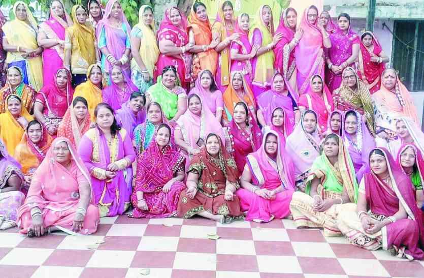 राजस्थानी महिलाओं ने की परिवार में सुख-समृद्धि की कामना