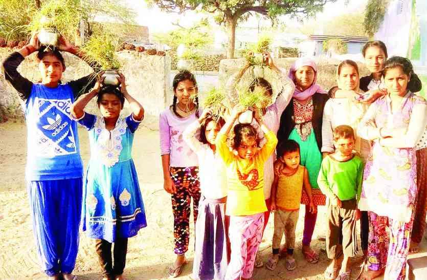 म्हाने पूजण द्यो गणगौर...गांव की गलियों में गूंजने लगे गीत