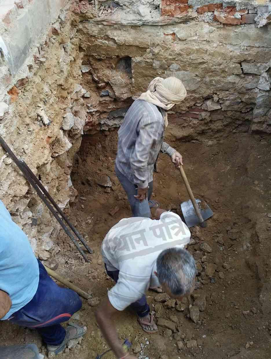 tunnel found during excavation in kotputli