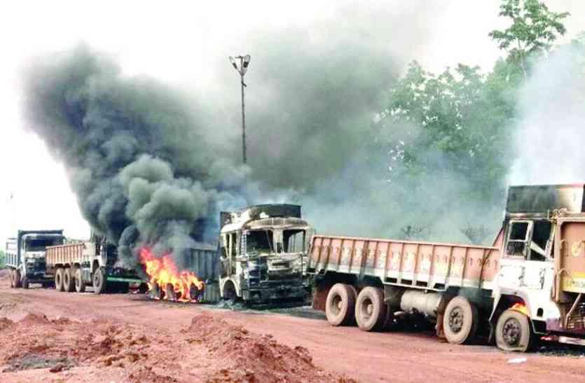 नक्सलियों का तांडव जारी, सुकमा हमले के बाद यहां किया 7 वाहनों को आग के हवाले
