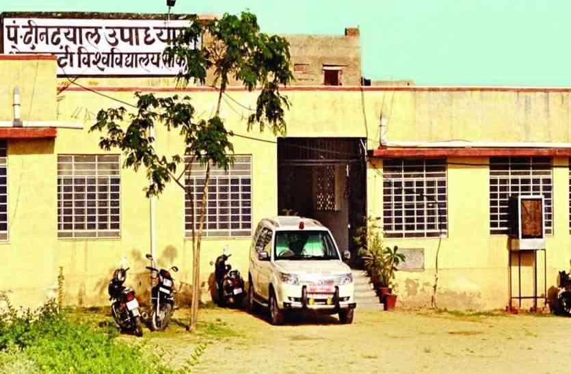 पंडित दीनदयाल उपाध्याय शेखावाटी विश्वविद्यालय की परीक्षा में पत्नी की जहां परीक्षा, वहां पति को लगाया वीक्षक