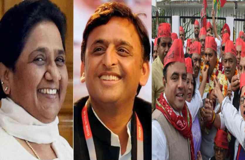 #by election result : गोरखपुर-फूलपुर उपचुनाव जीत पर लगे बुआ-भतीजे जिंदाबाद के नारे, नरेश अग्रवाल को बताया पनौती