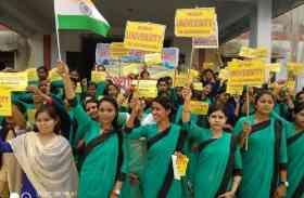 विश्वविद्यालय की मांग को लेकर आंदोलन तेज, छात्राओं ने चलाया हस्ताक्षर अभियान