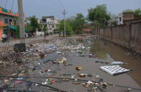 अलवर के नालों में हजारों टन कचरा भरा, बारिश आने के बाद शहर के हुए ऐसे हाल