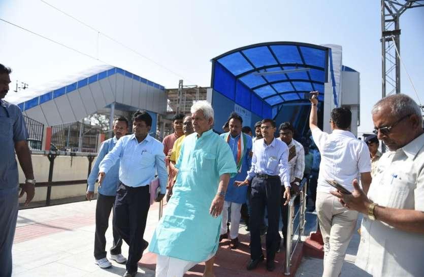 रेल राज्य मंत्री ने चलती ट्रेन से देखी पटरियां
