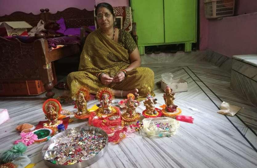 गिरजा देवी के हाथ के बने गोबर गणेश बनते हैं विवाह रस्मों के साक्षी