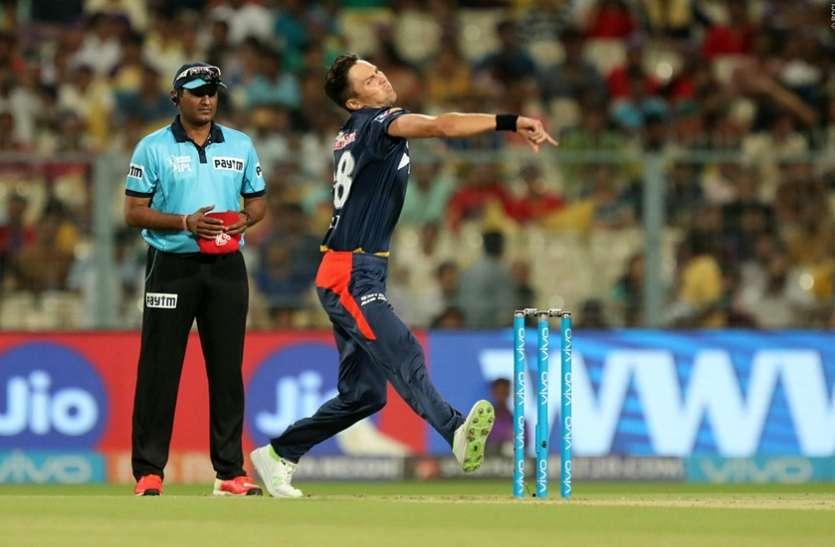 IPL 2018: 13वें मैच में आया इस सीजन का पहला मेडन ओवर, ट्रेंट बोल्ट ने की घातक गेंदबाजी