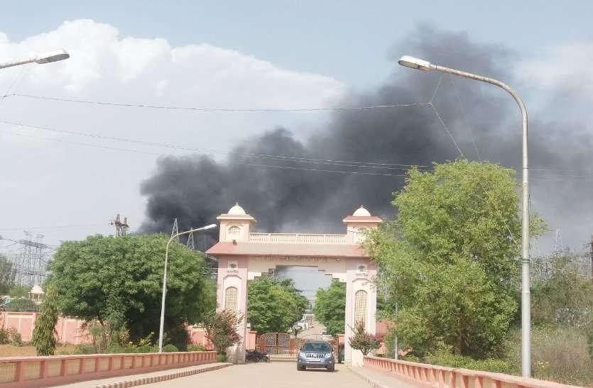 इंदिरा गांधी पावर ग्रिड में लगी आग,महलगांव सहित कई क्षेत्रों की बिजली गुल,करोड़ों का नुकसान