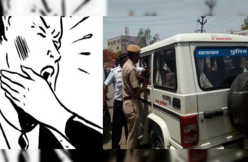 स्कूटी चालक ने ट्रैफिक पुलिसकर्मी के इसलिए मारा जोरदार थप्पड़, सिर्फ देखते रह गए सारे पुलिसवाले