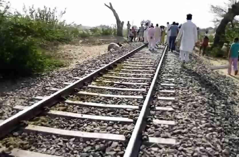 ट्रेन की चपेट में आने से युवक की दर्दनाक मौत