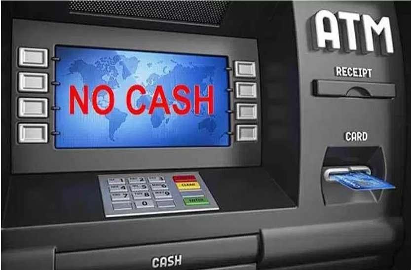 शहर के 20 प्रतिशत एटीएम में बैंक ने भरा पैसा