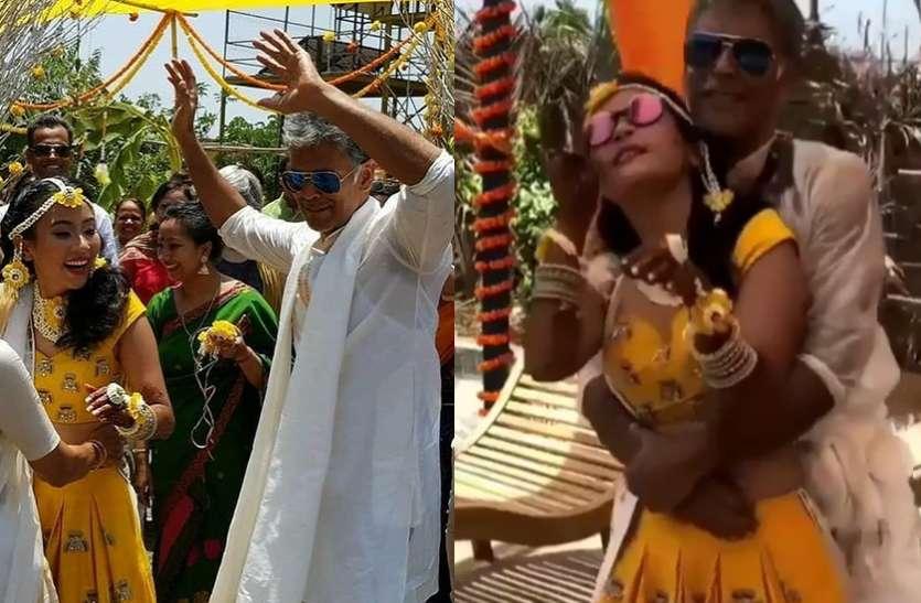 शादी की रस्मों में दिखा मिलिंद और उनकी गर्लफ्रेंड का NAUGHTY रोमांस! विद्या के गाने पर किया डांस