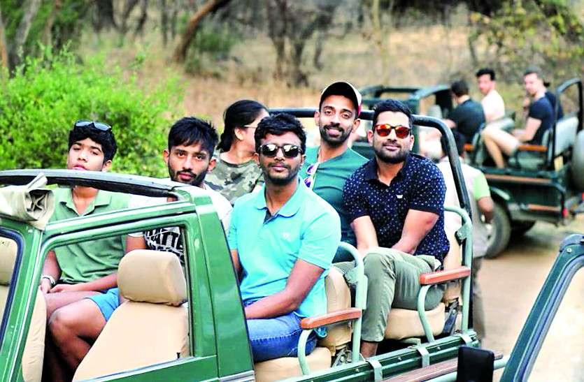 राजस्थान रॉयल्स की रणथम्भौर में टाइगर सफारी