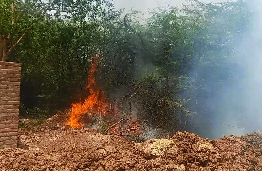 Video: श्रीगंगानगर सदर थाने के पीछे लगी आग
