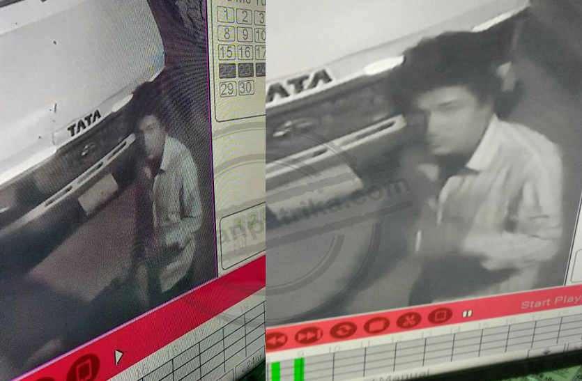 पहले सीढी चुरा सीसी कैमरों की कैबल काट, फिर इत्मीनान से चुराए लैपटाप व एलईडी