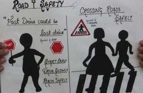 स्कूली बच्चों ने ली यातायात नियमों के पालन की शपथ देखें तस्वीरें