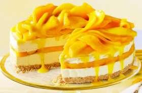 आम के सीजन में खाएं टेस्टी मैंगो केक
