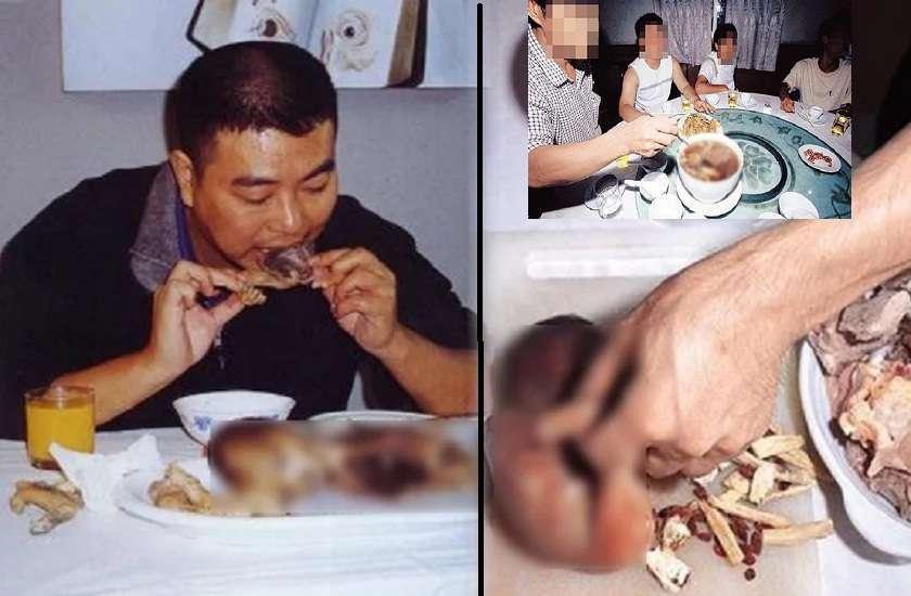 Chinese Man Eating Baby Fetus - शख्स ने 'भ्रूण' खाते हुए ...