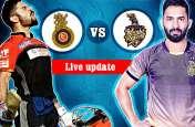 Live KKR vs RCB : उथप्पा और लिन की शानदार बल्लेबाजी, कोलकाता जीत की ओर