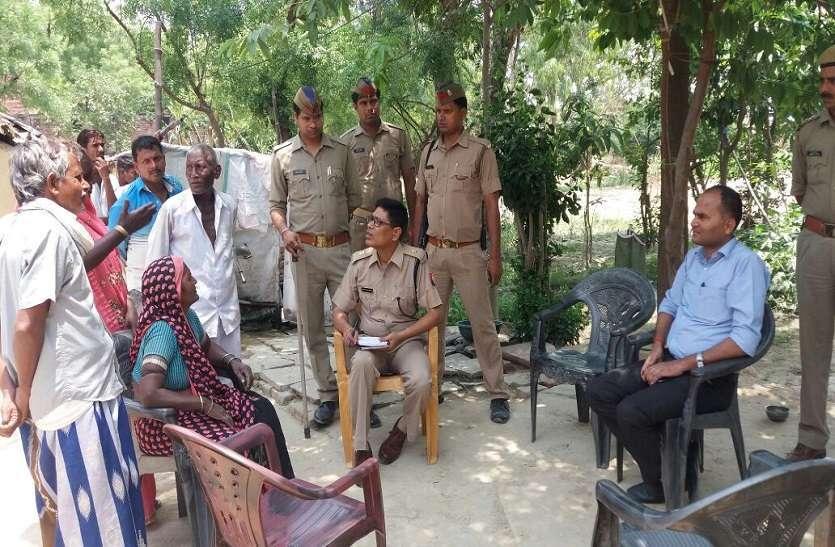 police force in azamgarh village where dalit girl burn alive