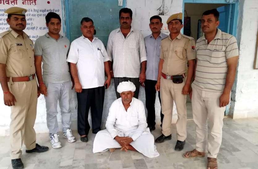 JAISALMER NEWS- अफीम के दूध के साथ गिरफ्तार वृद्ध से राज उगलवाने के लिए पुलिस कर रही...