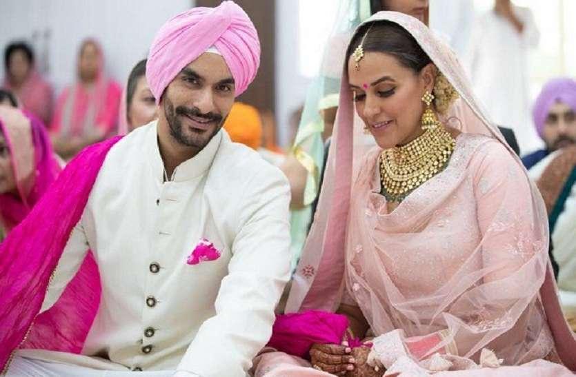 बिशन सिंह बेदी के बेटे अंगद से नेहा धूपिया ने रचाया विवाह, सोशल मीडिया पर तस्वीरें वायरल
