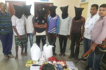 नक्सलियों को सहयोग करने वाले ११ सदस्य गिरफ्तार