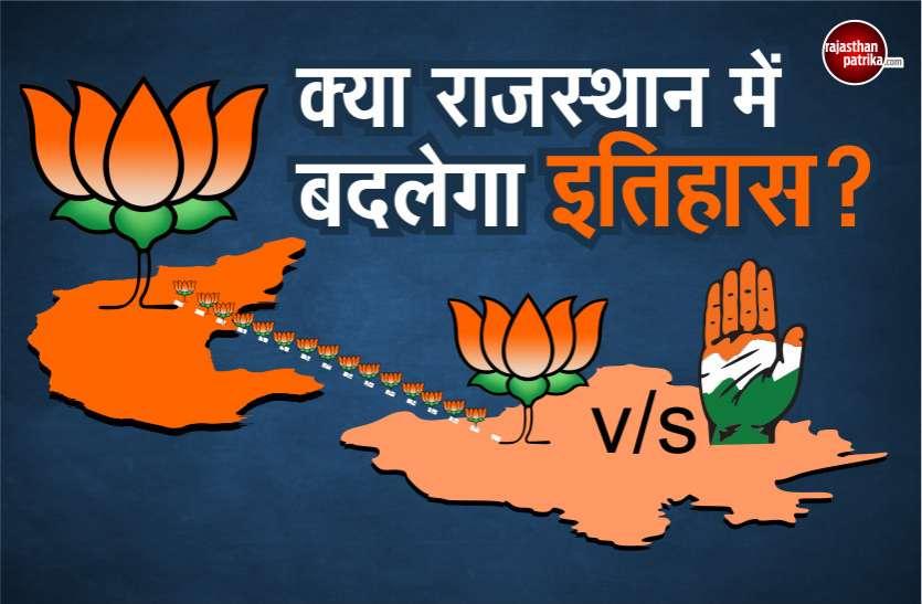 कर्नाटक में बीजेपी की बढ़त, क्या राजस्थान में भी बदलेगा इतिहास?