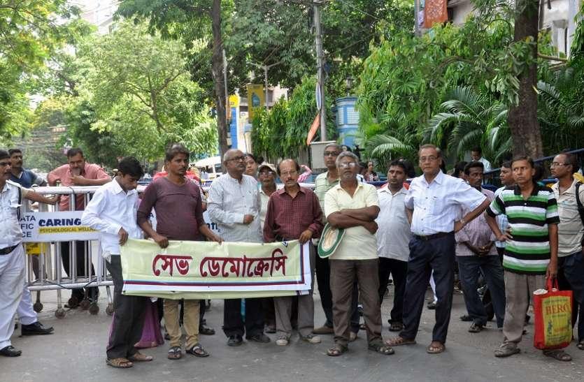 चुनाव हिंसा के विरोध में कोलकाता में मोमबत्ती रैली