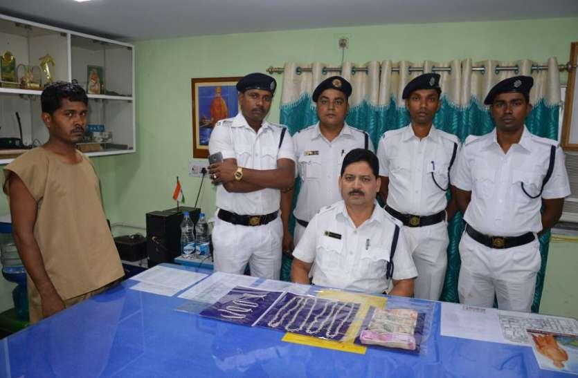 बड़ाबाजार से 8.5 किलो सोना व 5 लाख रुपए चोरी करने वाला गिरफ्तार