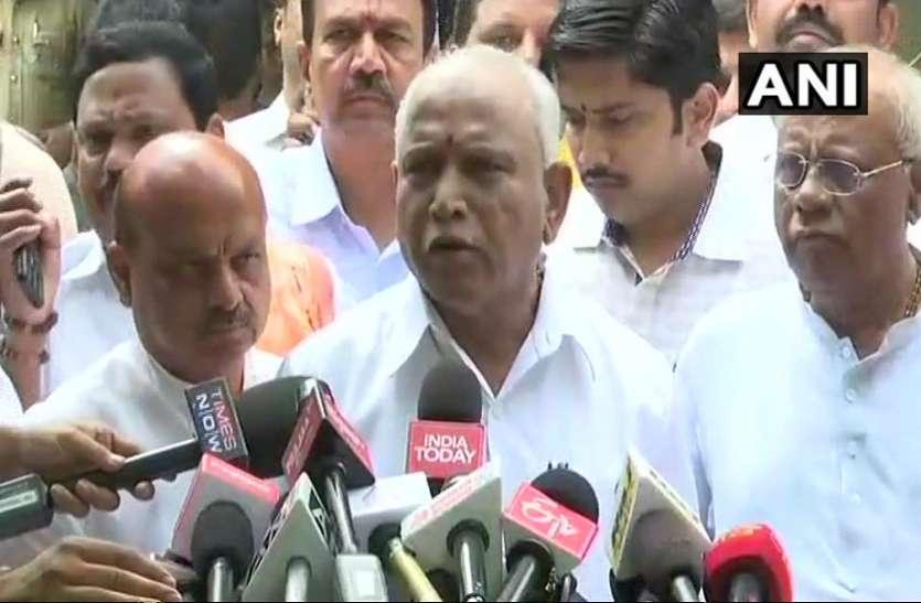 कर्नाटक: भाजपा विधायक दल के नेता चुने जाने के बाद बोले येदियुरप्पा, कल लूंगा शपथ