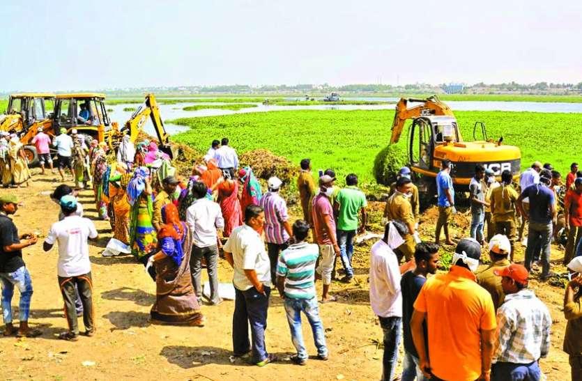 तापी शुद्घिकरण के साथ मनपा ने शुरू किया जल संचय अभियान