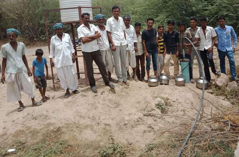 रणोदर से पहुंच रहा जिले भर के लिए मीठा पानी, यहां के ग्रामीणों के लिए खारे पानी की व्यवस्था