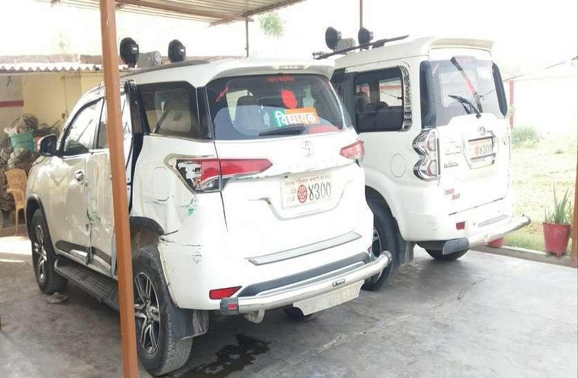 Accident: बीजेपी MLA की फॉर्च्यूनर की ट्रक से टक्कर, कार में सवार थे भाजपा विधायक औऱ नेता