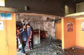 होटल में मची भगदड़ जब लीकेज गैस से भड़की भीषण आग, लोग खाना छोड़कर भागे..