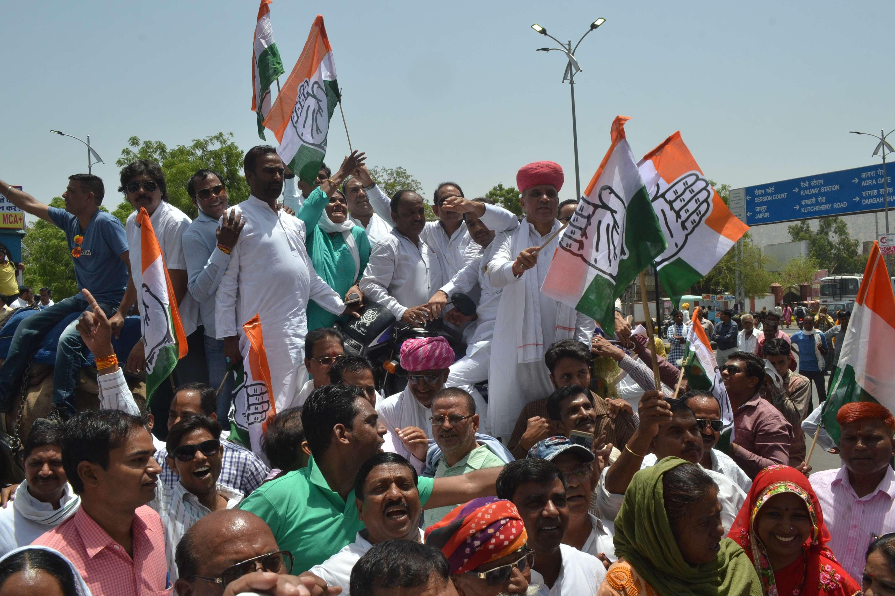 congress leaders protest against petrol diesel rate increase
