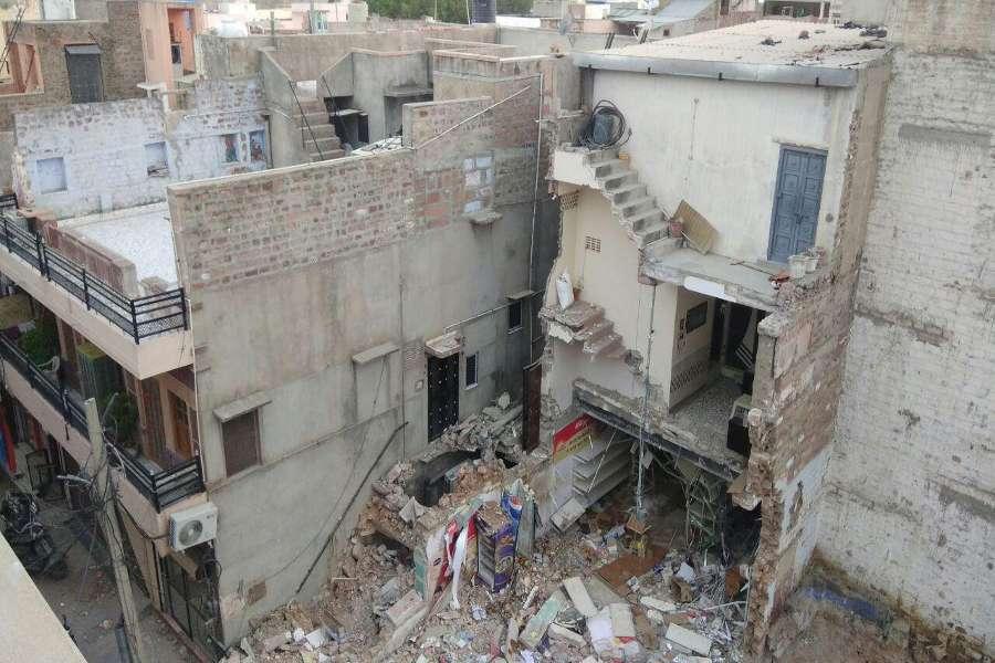 building collapsed in sardarpura area of jodhpur