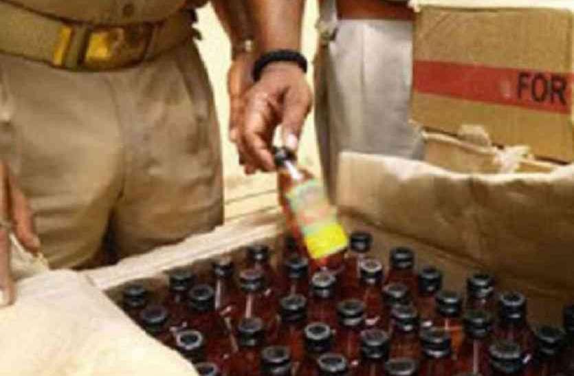 महाराष्ट्र की 24 लीटर बीयर ओर वेलकम डिस्टलरी से तीन पेटी शराब तस्करी करते 4 आरोपी पकड़े गए